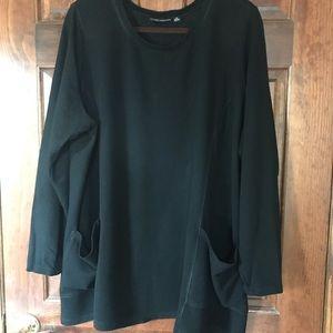 Susan Graver Weekend brushed back knit tunic
